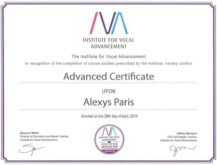 Speech Level Singing-SLS-Vocal Coach Alexys Paris' Voice Lessons